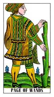 Daughter of Wands Tarot Card - Classic Tarot Deck