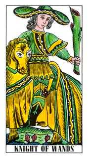 Knight of Rods Tarot Card - Classic Tarot Deck
