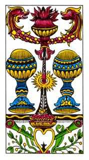 Two of Hearts Tarot Card - Classic Tarot Deck