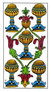 Five of Bowls Tarot Card - Classic Tarot Deck