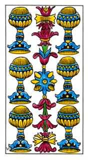 Six of Cups Tarot Card - Classic Tarot Deck