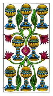 Eight of Bowls Tarot Card - Classic Tarot Deck