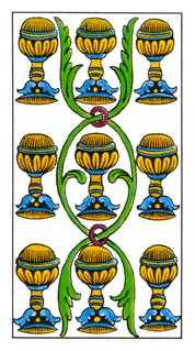 Nine of Cups Tarot Card - Classic Tarot Deck