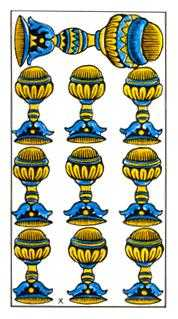 Ten of Cauldrons Tarot Card - Classic Tarot Deck