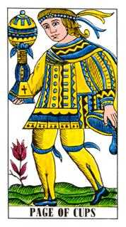 Page of Cauldrons Tarot Card - Classic Tarot Deck