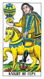 Cavalier of Cups Tarot Card - Classic Tarot Deck