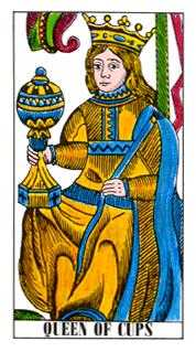 Queen of Hearts Tarot Card - Classic Tarot Deck