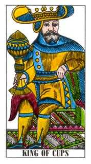 King of Cauldrons Tarot Card - Classic Tarot Deck