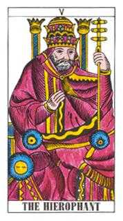 The High Priest Tarot Card - Classic Tarot Deck