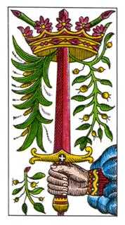 Ace of Arrows Tarot Card - Classic Tarot Deck