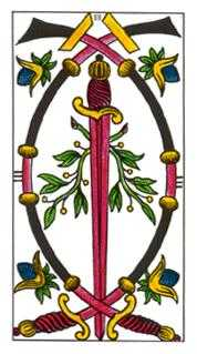 Three of Wind Tarot Card - Classic Tarot Deck