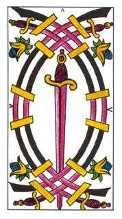 Five of Spades Tarot Card - Classic Tarot Deck