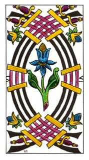 Six of Arrows Tarot Card - Classic Tarot Deck