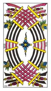 Eight of Arrows Tarot Card - Classic Tarot Deck
