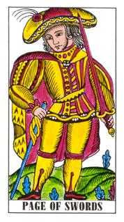 Valet of Swords Tarot Card - Classic Tarot Deck