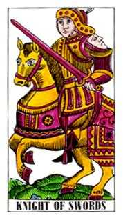 Knight of Swords Tarot Card - Classic Tarot Deck