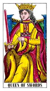 Queen of Spades Tarot Card - Classic Tarot Deck