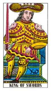Roi of Swords Tarot Card - Classic Tarot Deck
