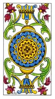 Ace of Discs Tarot Card - Classic Tarot Deck