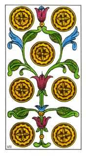 Seven of Pumpkins Tarot Card - Classic Tarot Deck