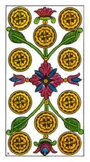 Ten of Rings Tarot Card - Classic Tarot Deck