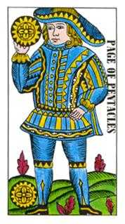 Page of Diamonds Tarot Card - Classic Tarot Deck
