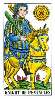 Knight of Coins Tarot Card - Classic Tarot Deck