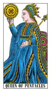 Queen of Coins Tarot Card - Classic Tarot Deck