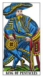 King of Diamonds Tarot Card - Classic Tarot Deck