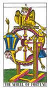Wheel of Fortune Tarot card in Classic Tarot deck