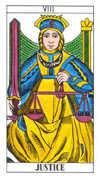 Justice Tarot card in Classic deck