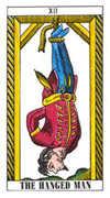 The Hanged Man Tarot card in Classic Tarot deck