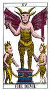 The Devil Tarot card in Classic Tarot deck