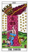 The Tower Tarot card in Classic deck