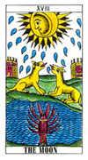 The Moon Tarot card in Classic deck