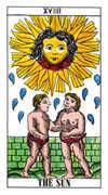 The Sun Tarot card in Classic Tarot deck