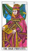 The High Priestess Tarot card in Classic deck
