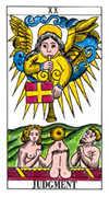 Judgement Tarot card in Classic deck