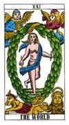 The World Tarot card in Classic Tarot deck