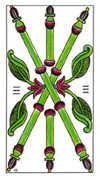 Three of Wands Tarot card in Classic Tarot deck