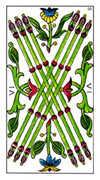 Six of Wands Tarot card in Classic deck