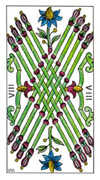 Eight of Wands Tarot card in Classic deck