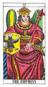 The Empress Tarot card in Classic deck