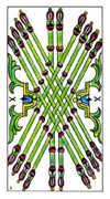 Ten of Wands Tarot card in Classic deck