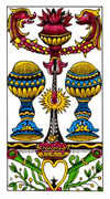 Two of Cups Tarot card in Classic deck