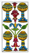 Four of Cups Tarot card in Classic deck