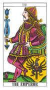 The Emperor Tarot card in Classic deck