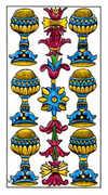 Six of Cups Tarot card in Classic deck