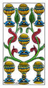 Seven of Cups Tarot card in Classic deck