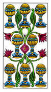 Eight of Cups Tarot card in Classic deck